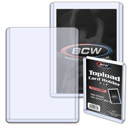 1 BCW 3x4 9mm Topload holder 360 pt Extra Thick Relic Jersey (1 Screw Thick Card Holder)