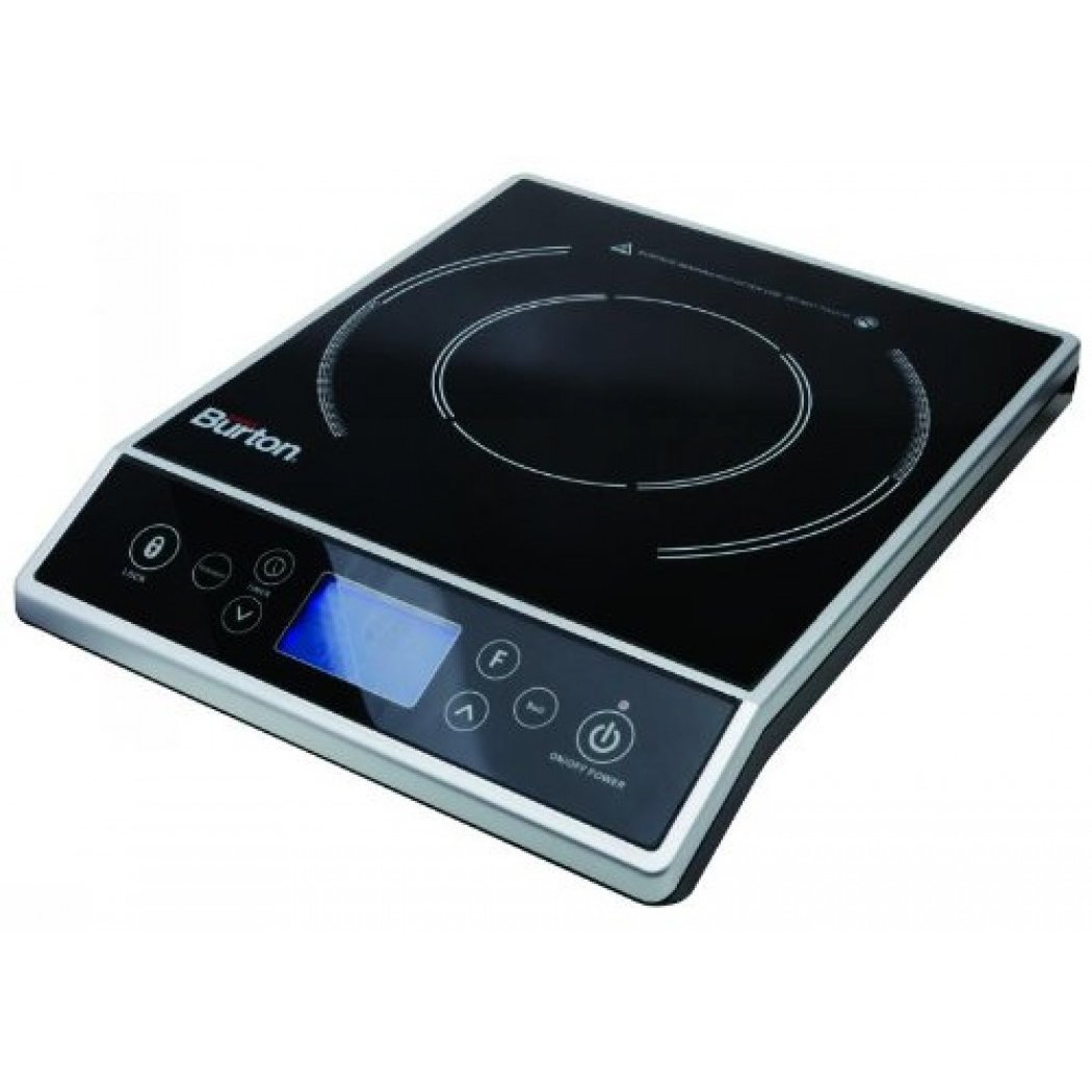 Max Burton 6400 Digital Choice Induction Cooktop with LCD Display and Touchpad Controls, 10 heat mode Settings from 500W-1800W, 15 Temperature Mode Settings in 25° Increments from 100°F to 450°F