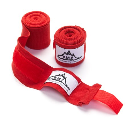 Wear Hand Wraps - Black Mountain Products Professional Grade Boxing and MMA Hand Wrist Wraps, Red