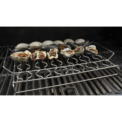 Steven Raichlen Best of Barbecue Stainless Steel Seafood Grilling Rack Multi-Colored