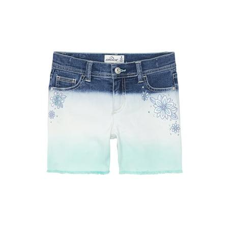 Jordache Dip Dye Fringe Hem Denim Short (Little Girls & Big Girls) (Dip Dye Trend)