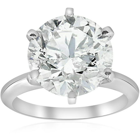 1/4 Ct Marquise Diamond Solitaire (4 ct Round Diamond Solitaire  Engagement Ring 14k White Gold)