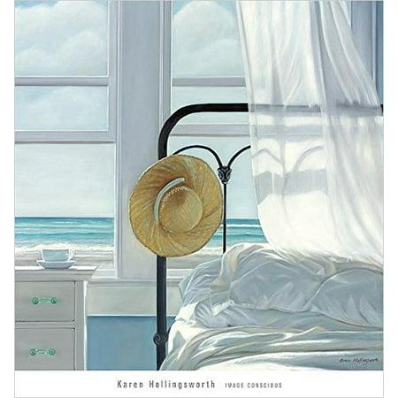 Sand  the Sheets by Karen Hollingsworth 27x27 Art Print Poster Coastal Beach Ocean Interior Cottage ()