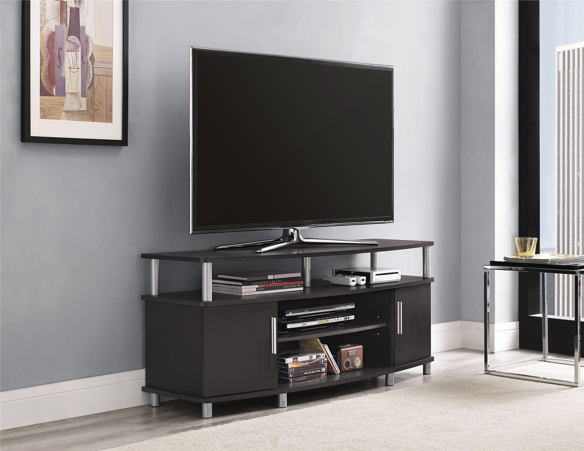 Carson Tv Stand For Tvs Up To 50 Multiple Finishes Espresso Walmart Com Walmart Com