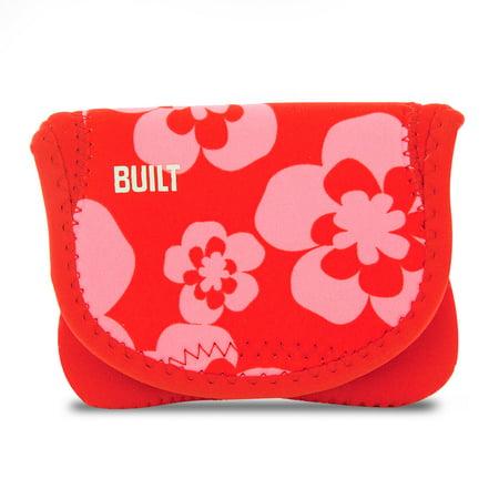 BUILT Neoprene Compact Camera Envelope - Summer Bloom, Red/Pink