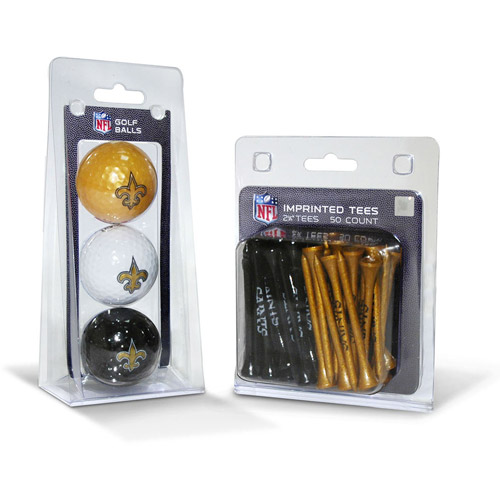 Team Golf NFL New Orleans Saints 3 Golf Balls And 50 Golf Tees