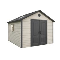 Lifetime Outdoor Storage Building 11 ft x 13.5 ft, Desert Sand