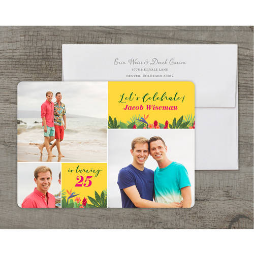 Tropical Party Deluxe Birthday General Invitation