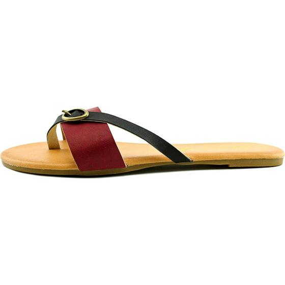 52812db48bbf4c Seven7 - Koopie Women Open Toe Synthetic Red Thong Sandal - Walmart.com