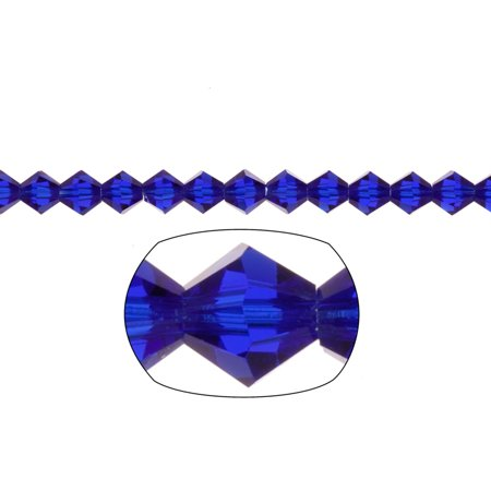 Bicone Crystal Beads Sapphire Blue Faceted xilion Crystal For Jewelry Making mm 74Cnt