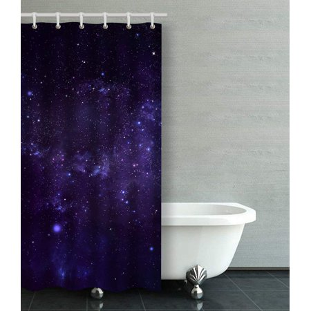 BOSDECO Starry Night Sky Shower Curtain Bathroom Curtain 36x72 inches - image 1 of 1
