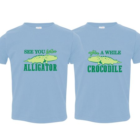 Nursery Decals and More Brand: Twin Boys Tshirt, See You Later Alligator, Includes 2 Shirts, 12-18 mo Alligator