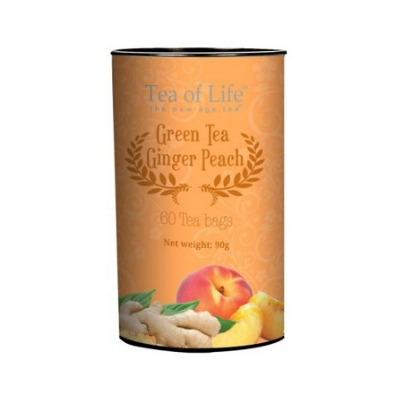 Tea of Life Green Tea Ginger Peach 60 teabags Ginger Peach Green Tea