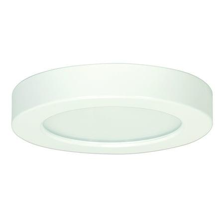 Satco 5.5in. 10.5w Flush Mount LED Fixture 3000K RoundWhite Finish 120 volts 6 White Ceiling Mounts