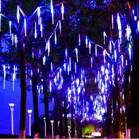 Zerone 30cm/50cm Falling Rain Light,Waterproof SMD2835 LED String Lights 8 Tube Meteor Shower Light Christmas Holiday Outdoor Decor Tree Decoration, Light Bulb Tubes,Light Tube](Holiday Decorations)