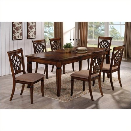piece rectangular dining table and chair set in oak