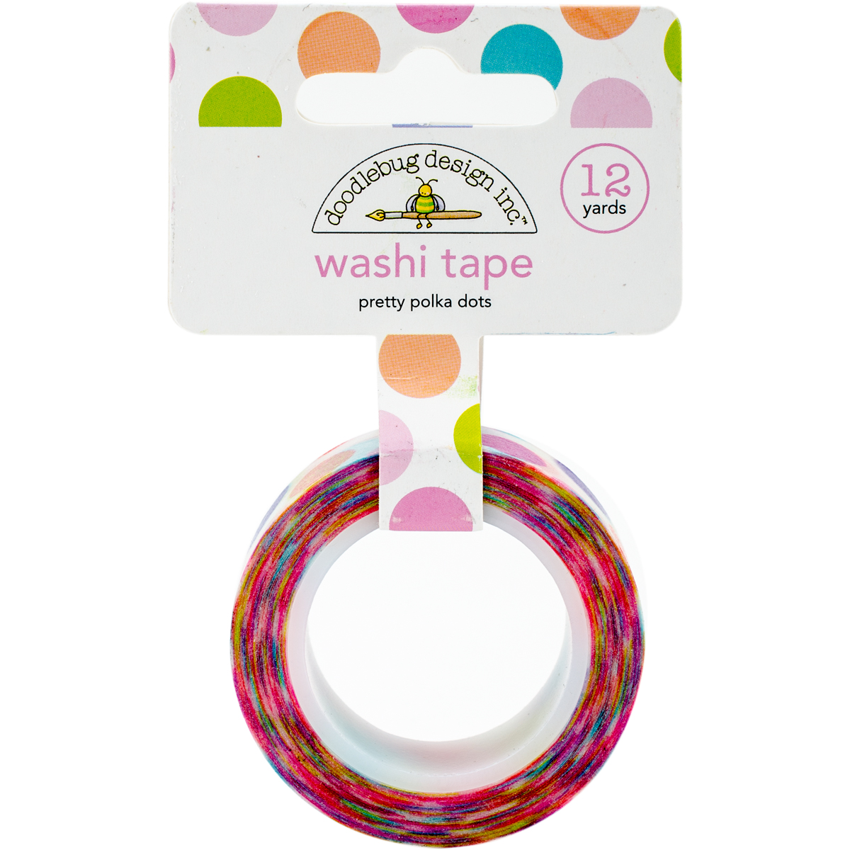 Doodlebug Washi Tape 15mm x 12 yd, Pretty Polka Dots