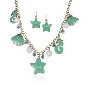 Sea Life Starfish Sea Shell Sea Horse Enamel Bead Necklace