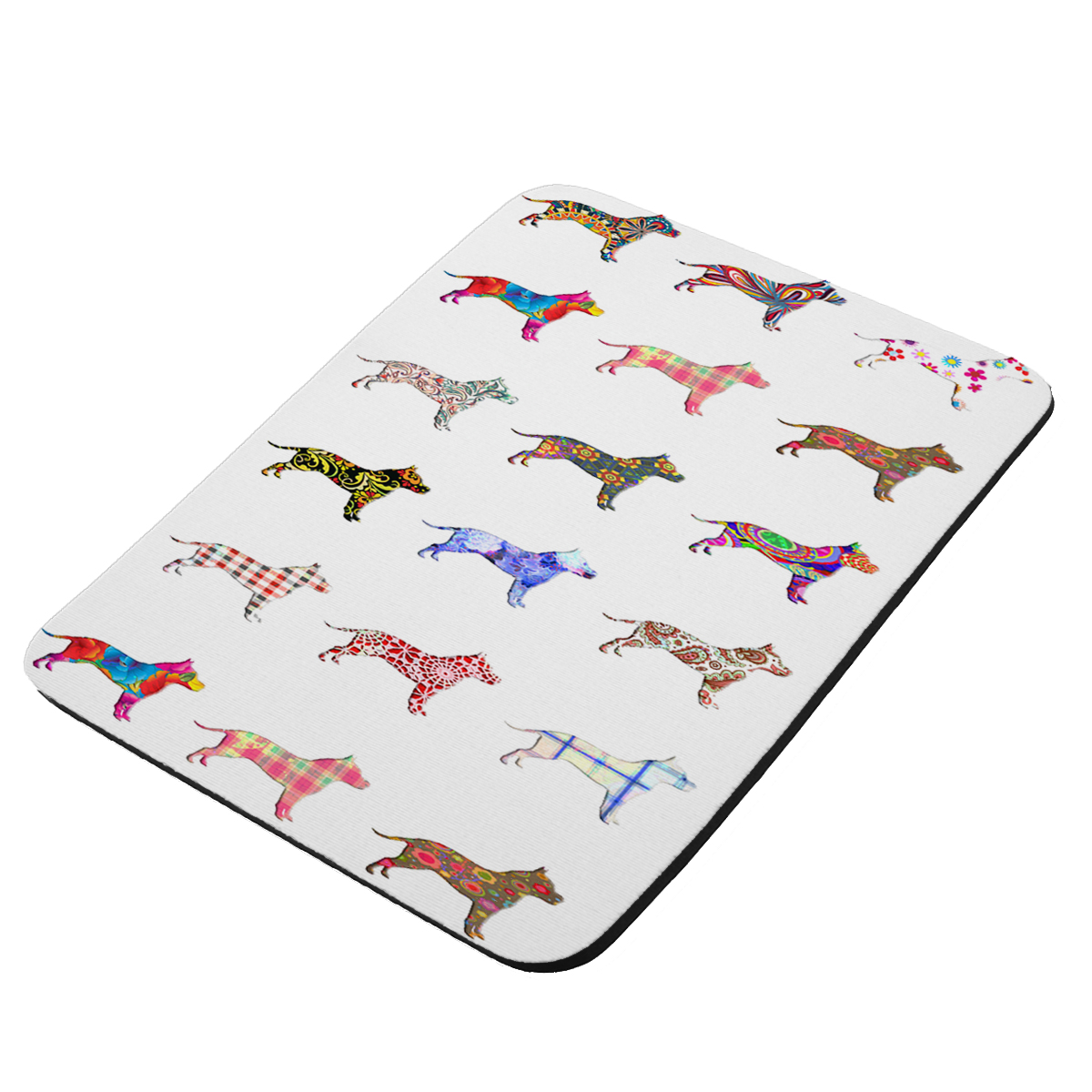 American Staffordshire Terrier Dog - KuzmarK Mousepad / Hot Pad / Trivet