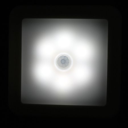 Intelligent LED Induction Lamp Square Sensor Induction Lamp Night Light Lamp for Bedroom Hallway - image 6 of 7