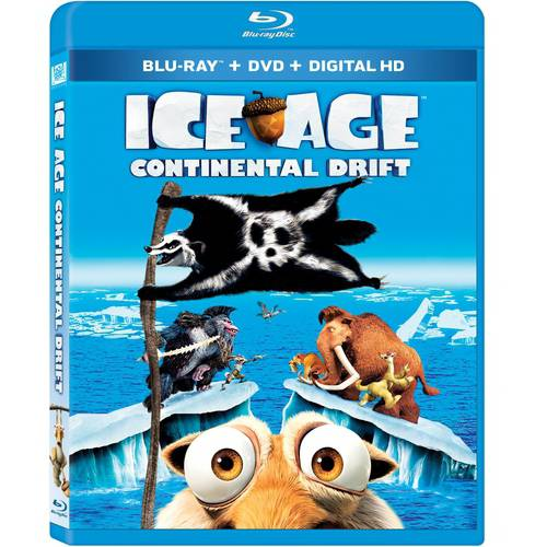 Ice Age: Continental Drift (Blu-ray + DVD + Digital HD) (Widescreen)
