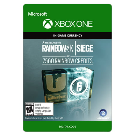 Xbox One Tom Clancy's Rainbow Six Siege Currency pack 7560 Rainbow credits (email