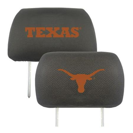 Fan Mats University of Texas Headrest Covers (Longhorns Natural)