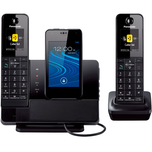 Panasonic KX-PRD262B Link2Cell Dock Style Bluetooth Cellular Convergence Solution with 2 Handsets