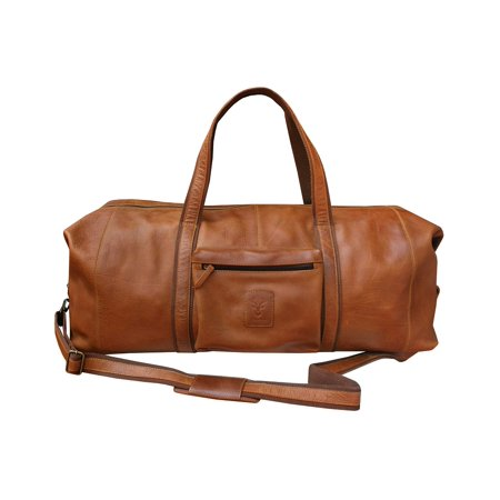 Leather Cow Hide Carry-On Duffle Weekend Gym Luggage Travel Bag (Best Leather Duffle Bag)