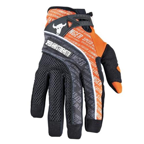Speed & Strength Lunatic Fringe Mesh/Textile Gloves Orange LG