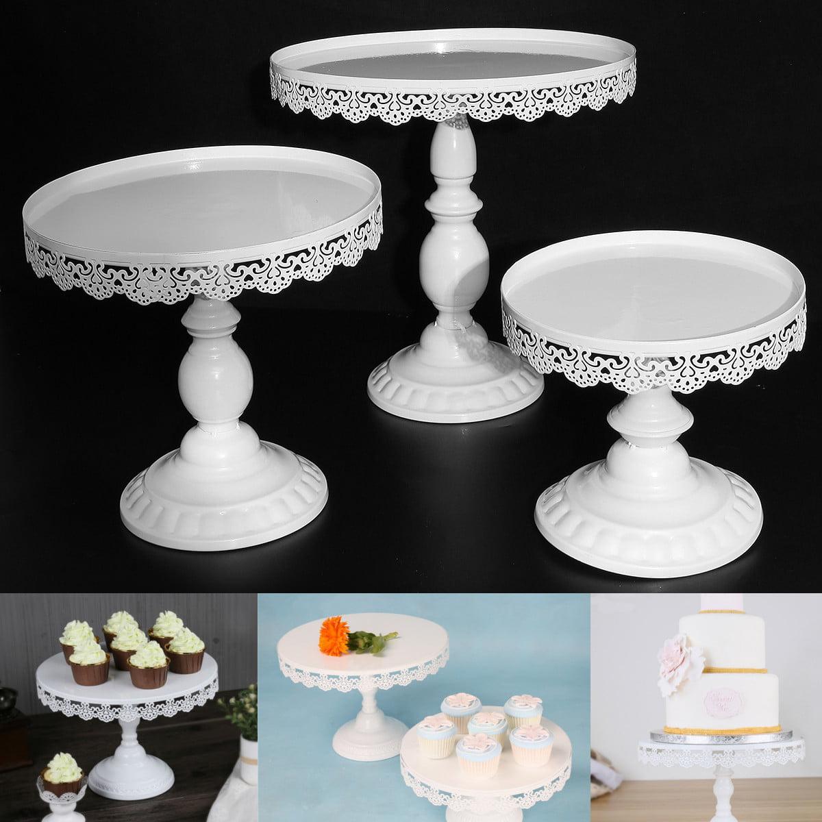 Vintage Round Cake Cupcake Stand Dessert Holder Fruit Display for Wedding Parties ,White