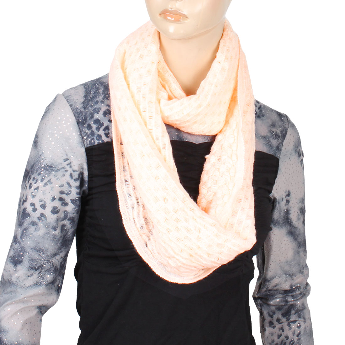 Light Orange Knitting Bandelet Collar Scarf Winter Neck Warmer for Woman