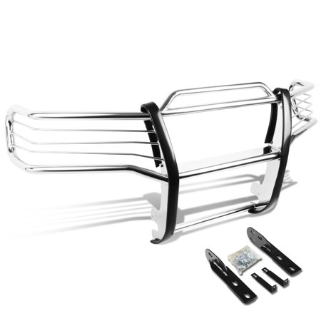 For 2001 to 2005 Explorer Sport Trac V6 Front Bumper Protector Brush Grille Guard (Chrome) 02 03 04 ()
