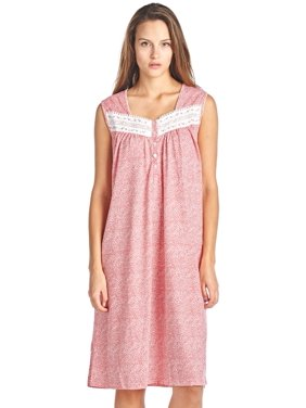 Product Image Casual Nights Women s Fancy Lace Trim Sleeveless Nightgown b3dab7e92