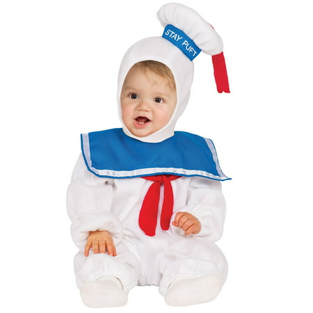 Ghostbusters Stay Puft EZ - On Romper Costume for Toddler - Toddler Ghostbusters Costume