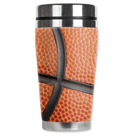 Mugzie brand 16-Ounce Stainless Steel Travel Mug with Insulated Wetsuit Cover - Basketball Closeup](Kill Bill Suit)