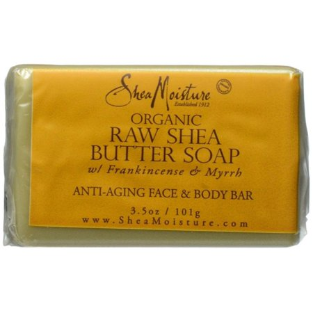 2 Pack - Shea Moisture Raw Butter Facial Bar Soap 3.5 - Raw Shea Butter Soap