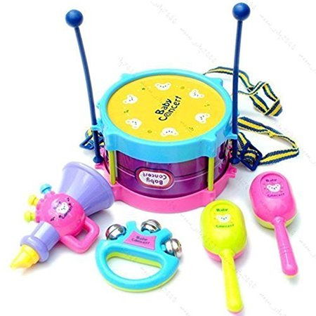 5pcs Novelty Kids Roll Drum Musical Instruments Band Kit Children Toy Baby Gift Set - Walmart.com