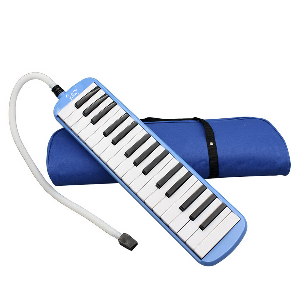 Glarry Blue Professional 32 Keyboard Harmonica Instrument - Also Called Mouth Organ, Wind Piano