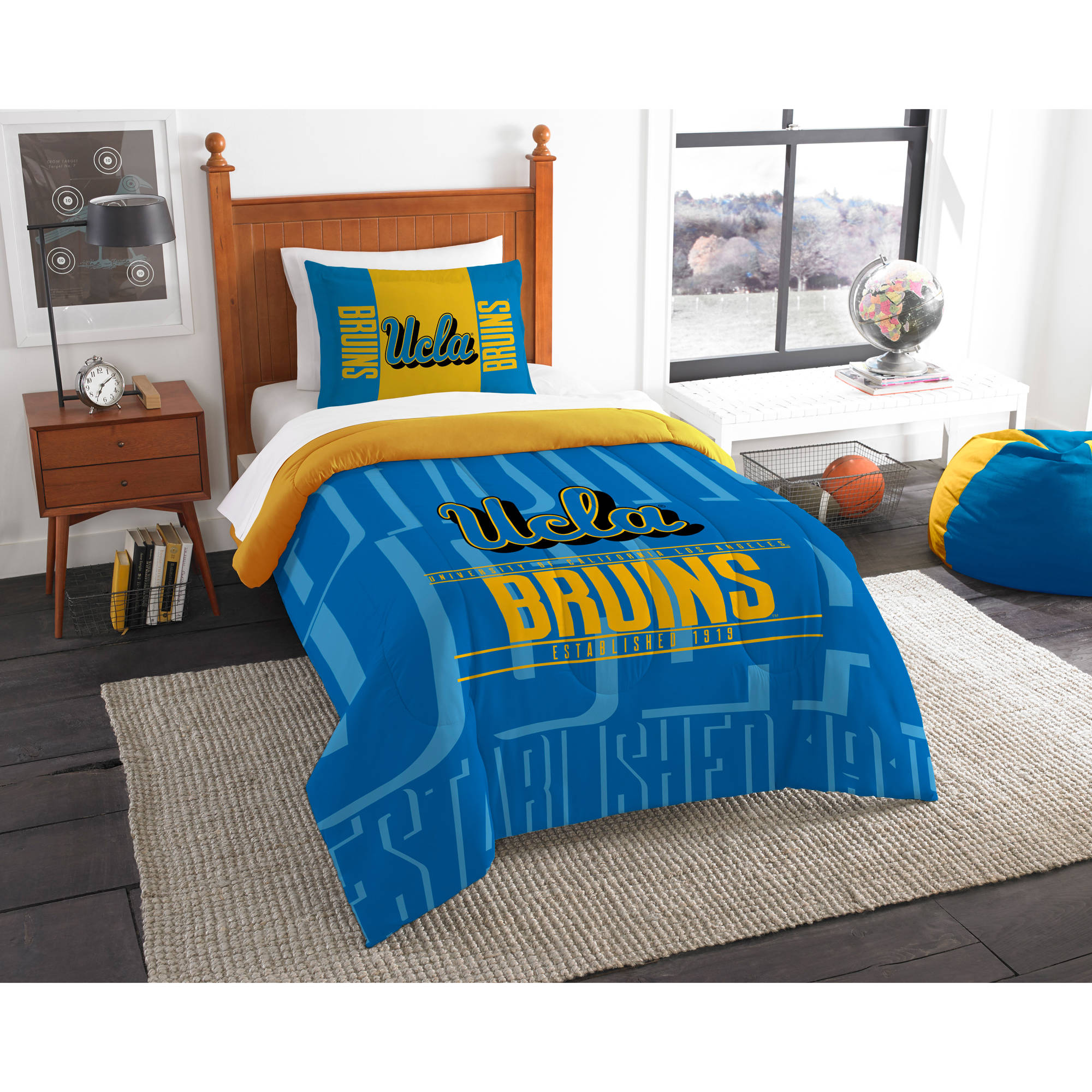 "NCAA UCLA Bruins ""Modern Take"" Bedding Comforter Set"