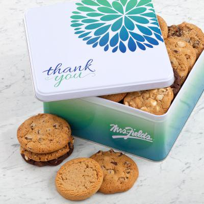 Large Cookie Tin - Mrs. Fields Large Give Thanks Tin Cookies