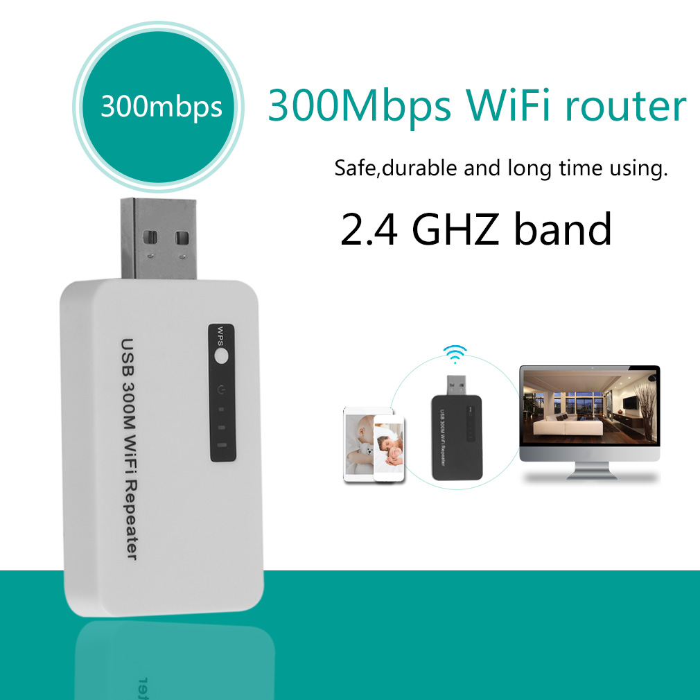 300mbps WIFI Mini Router Extender Signal Booster Amplifier Network Router
