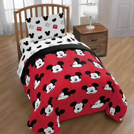 Disney Mickey Mouse Cute Faces 4 Piece Twin Bed In A Bag