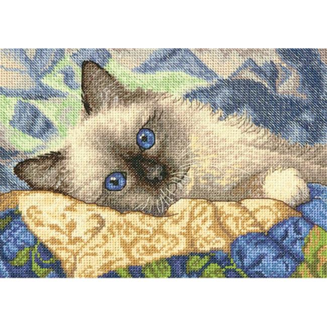 7 x 5 in. Charming Kitty Cat Stitch Kit - 18 Count