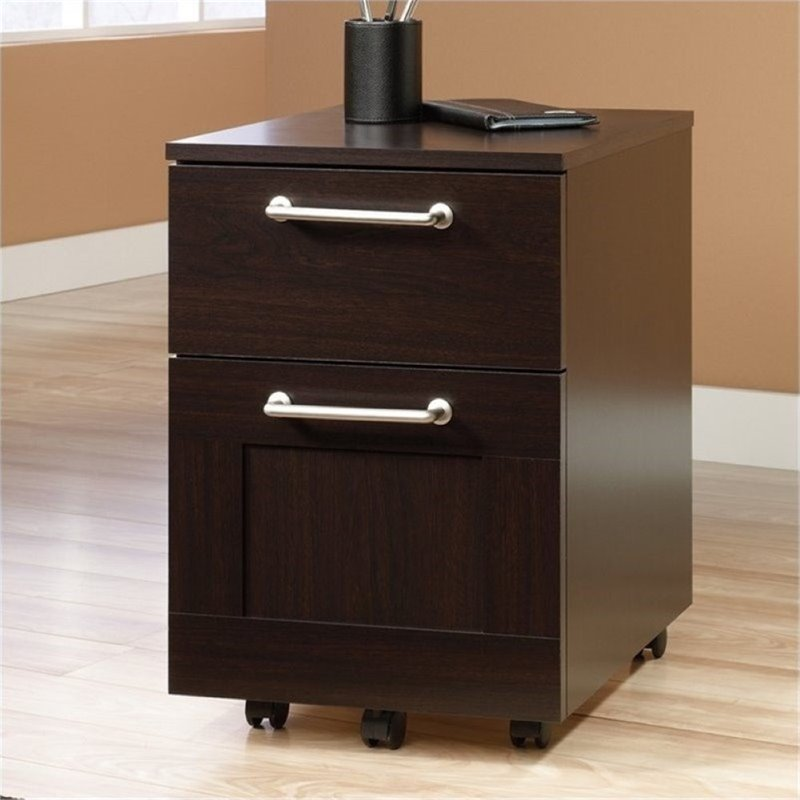 walmart file cabinets bowery hill mobile file cabinet in jamocha wood walmart 28131