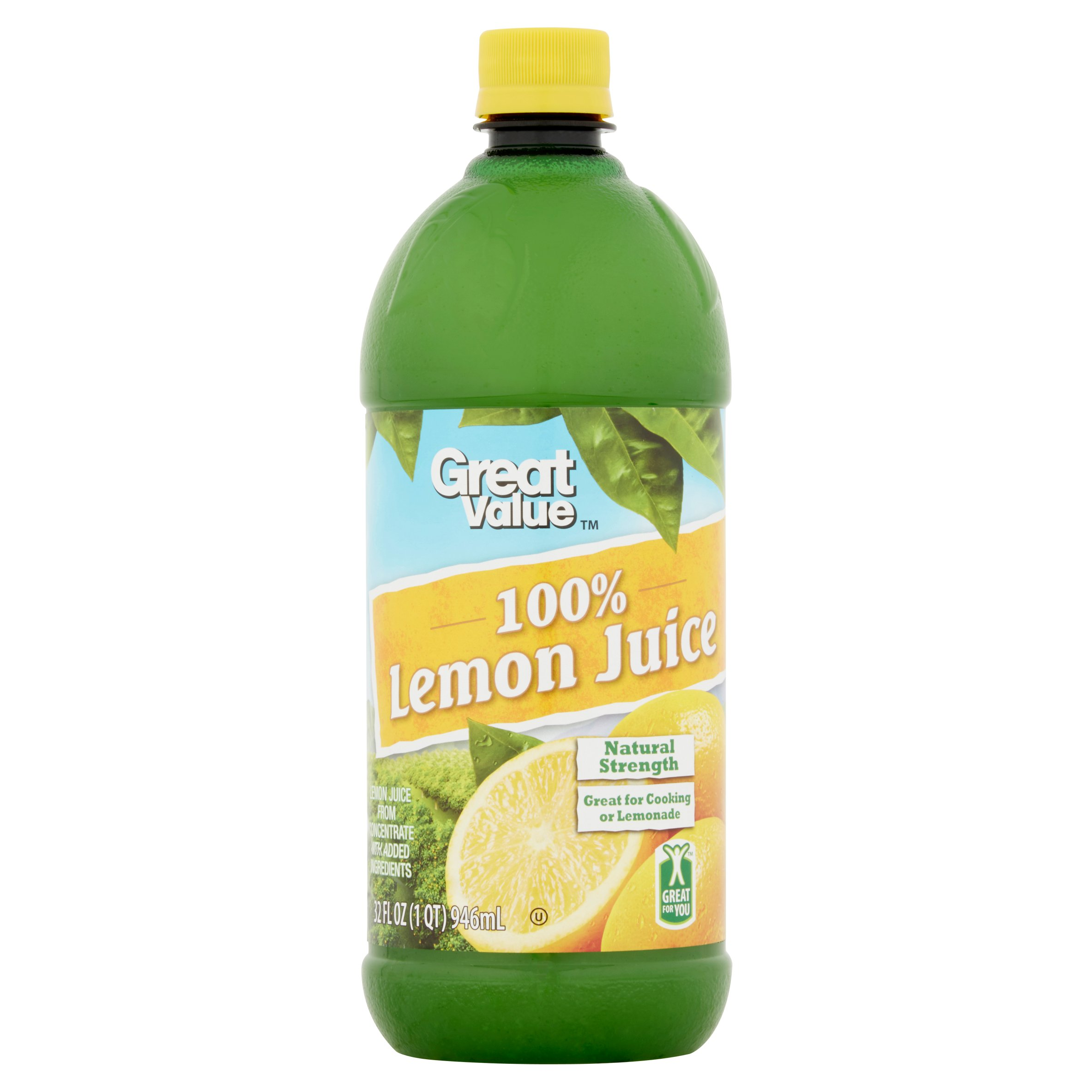 Great Value 100% Lemon Juice, 32 Fl Oz by Wal-Mart Stores, Inc.