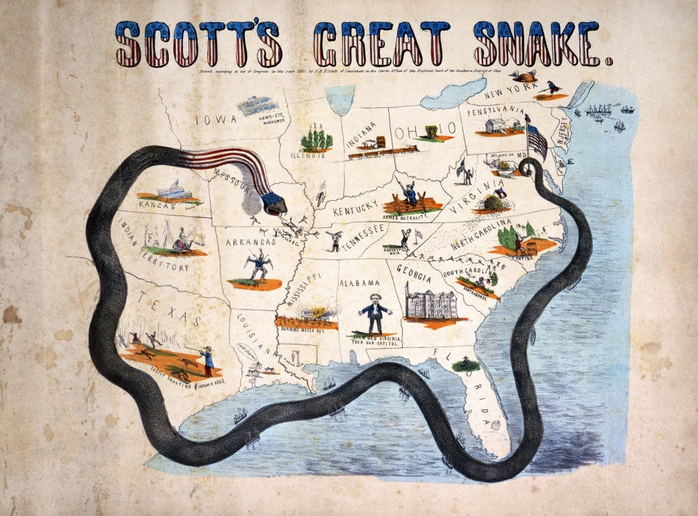 Civil War Anaconda Plan Nscotts Great Snake Or The