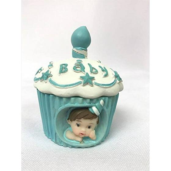 Baby Cake Cupcake Boy Topper Favor Souvenir For 1st Birthday Shower