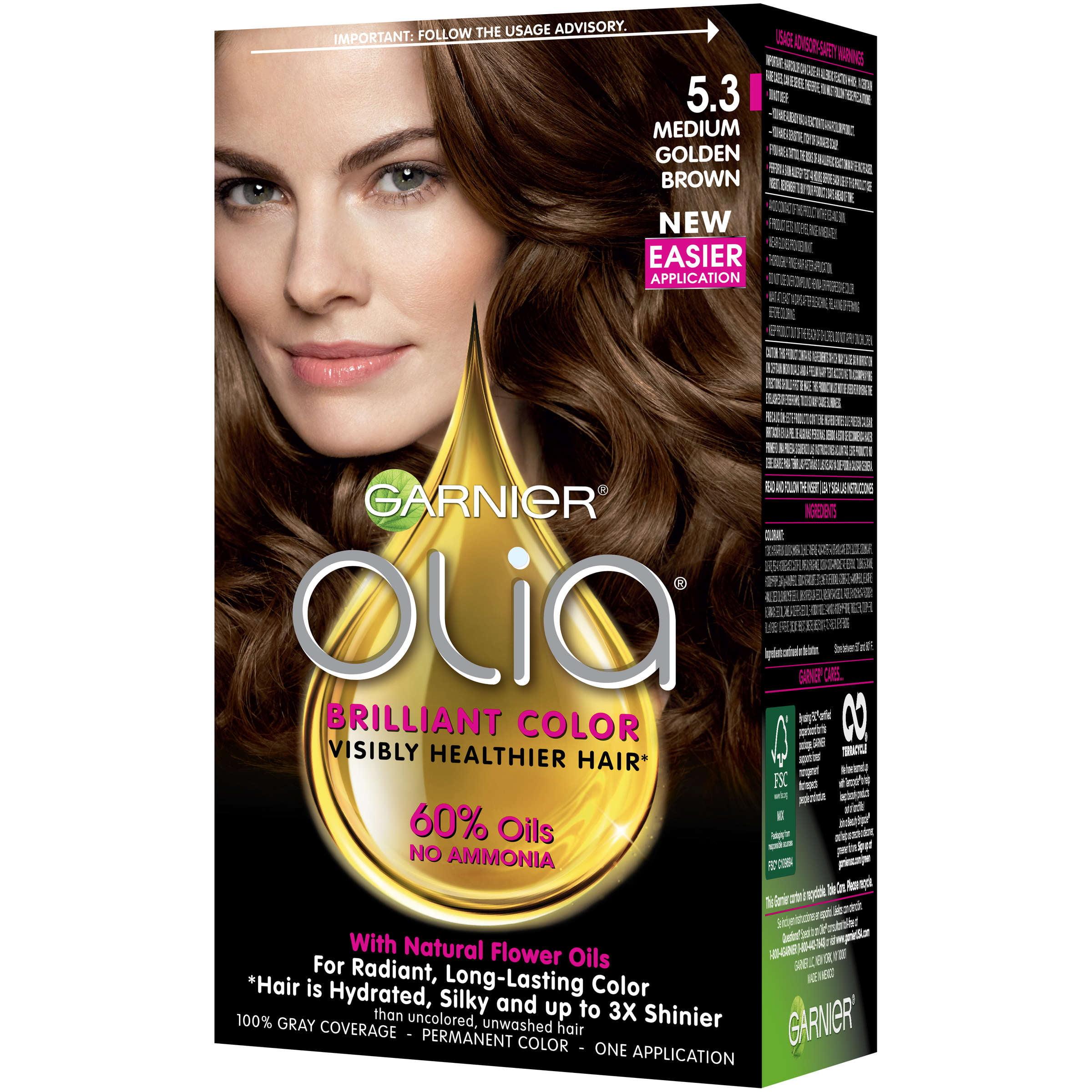 Garnier Olia Oil Powered Permanent Hair Color 50 Medium Brown