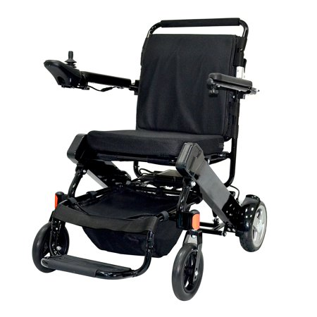 Homcom lightweight portable folding collapsible electric for Lightweight motorized folding wheelchair